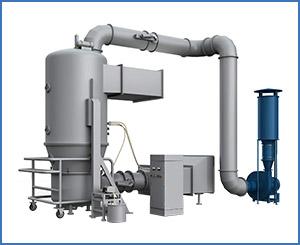 FL300 boiling granulating drier