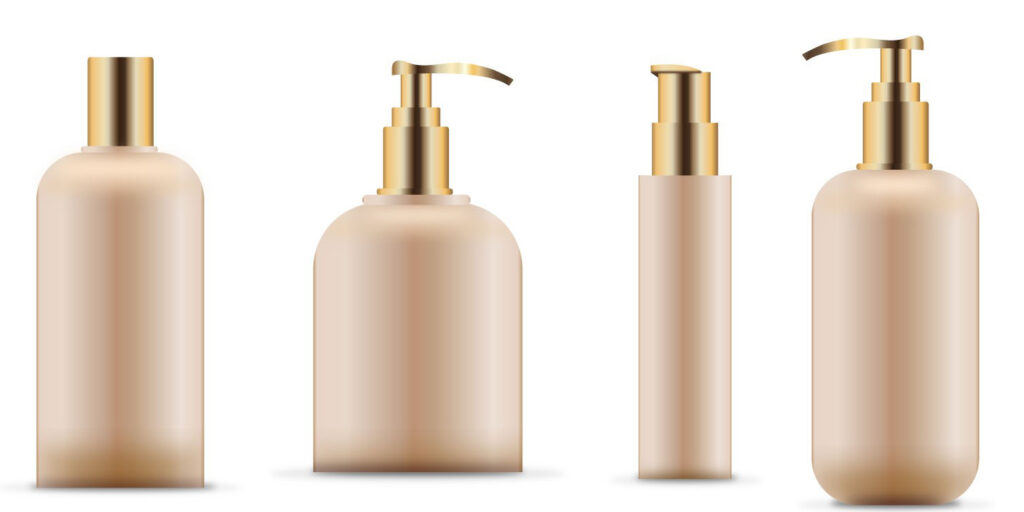 Different size cosmetic bottles
