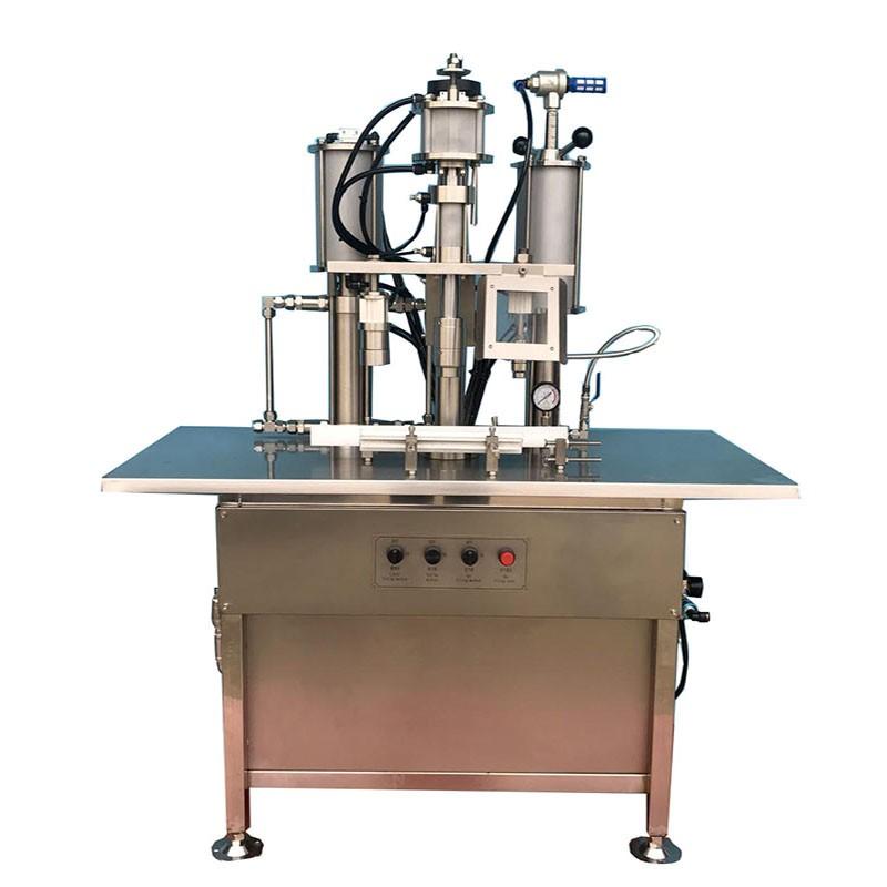 Small scale aerosol filling machine