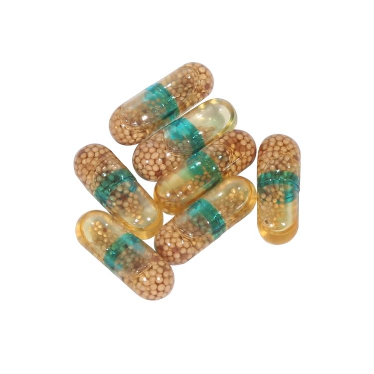 Granule filled capsules