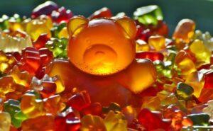 Texture Of Gummy Bear Candy