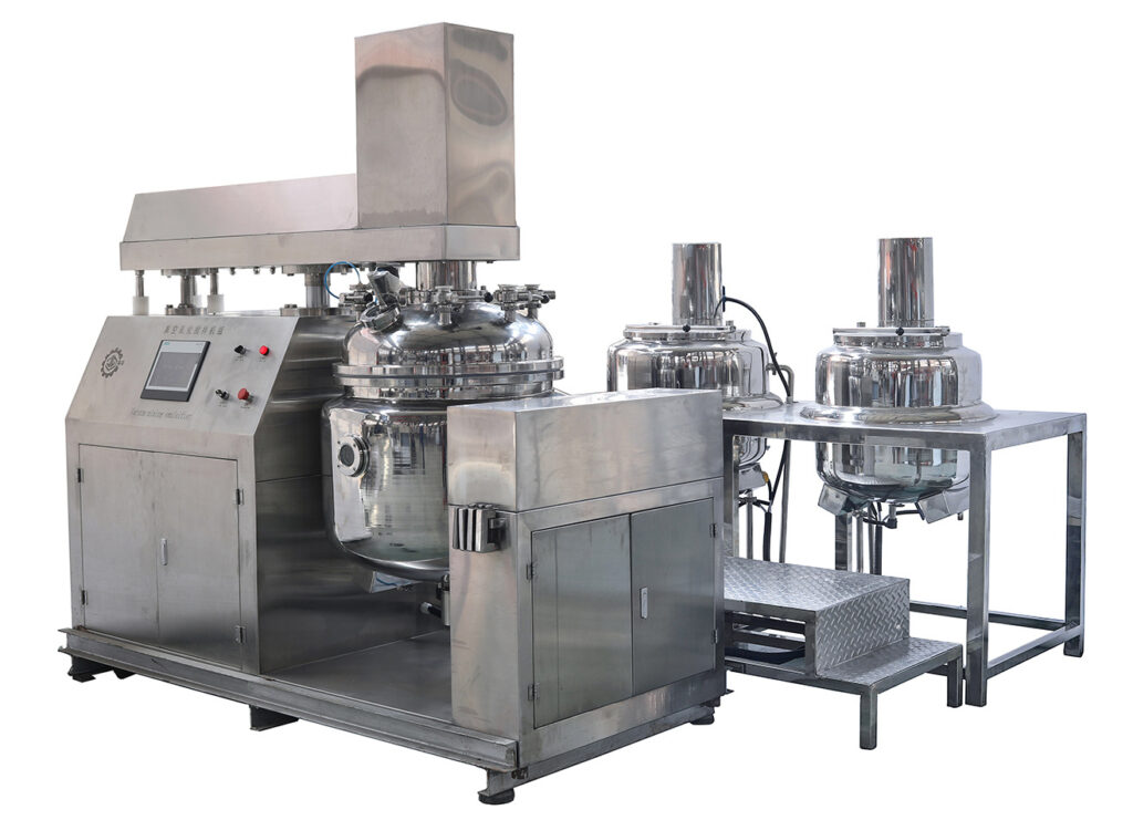 vacuum emulsifying mixer bottom homogenizer