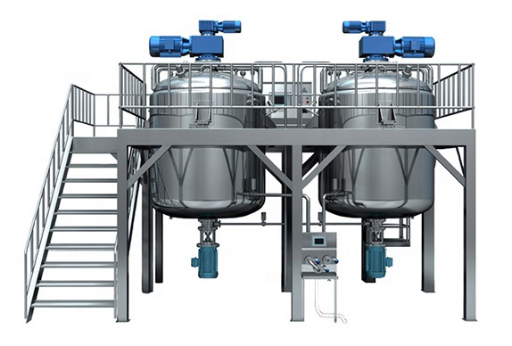 vacuum emulsifying mixer fixed type