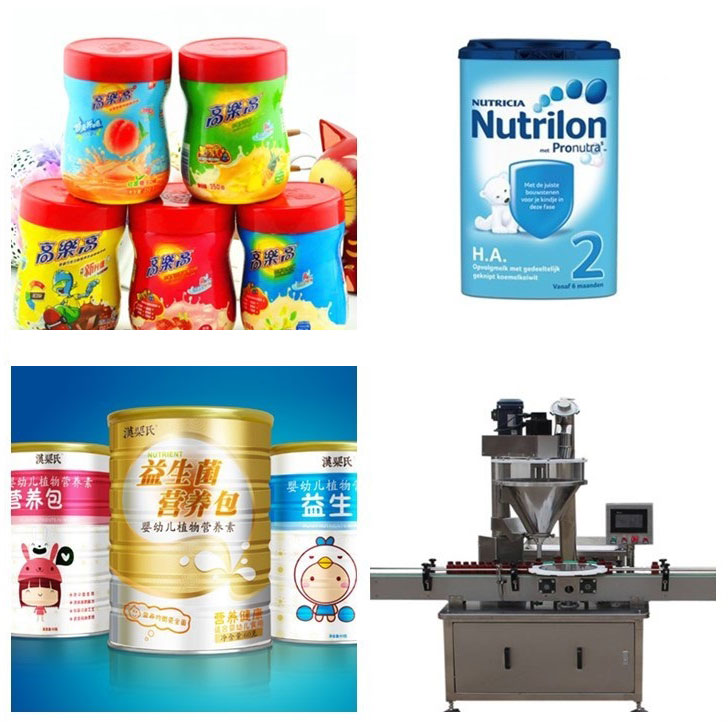 Different packing packets and containers along with machine