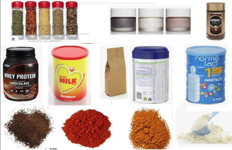 product of powder filling machine